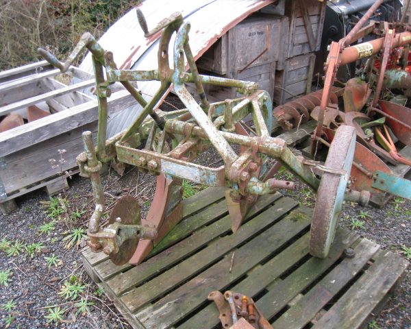 ford ransomes 2 furrow plough-2